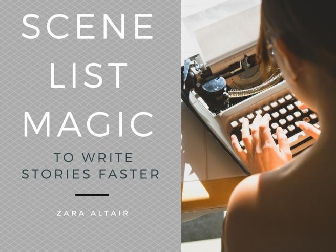 scene list for story writing, brainstorm scenes